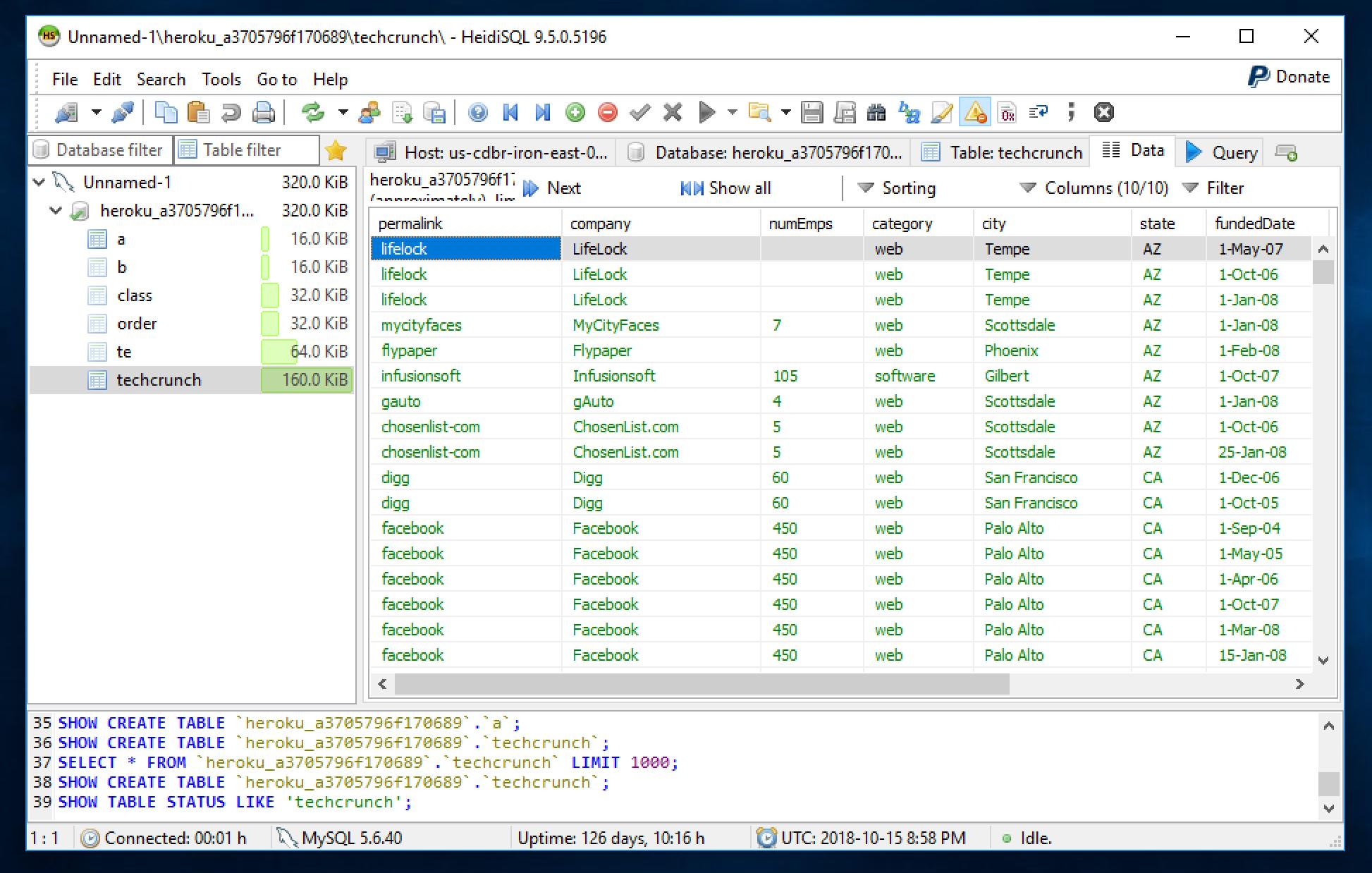 HeidiSQL vs MySQL Workbench vs TablePlus - A quick review