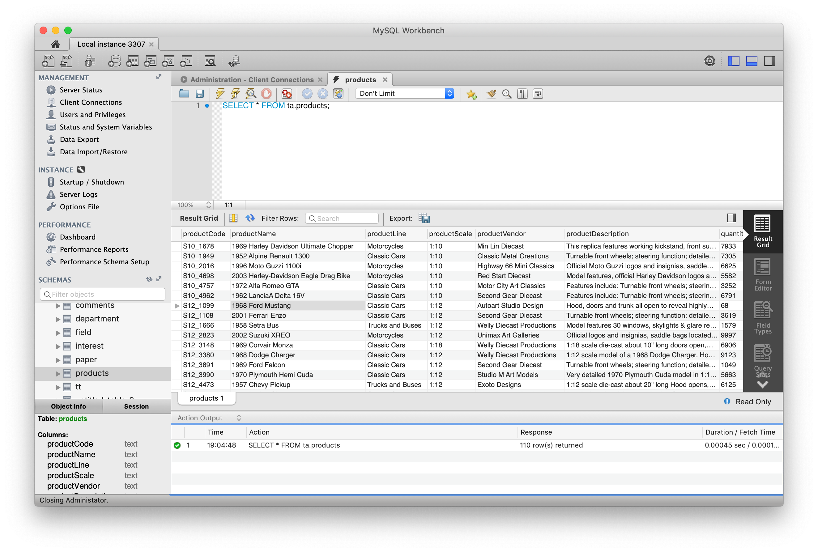 phpMyAdmin vs MySQL Workbench vs TablePlus   TablePlus