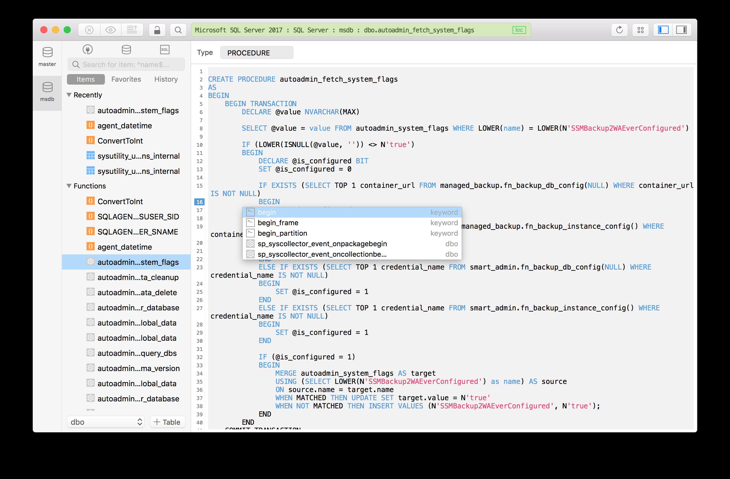 The Best Microsoft SQL Server GUI Tool for Mac - TablePlus