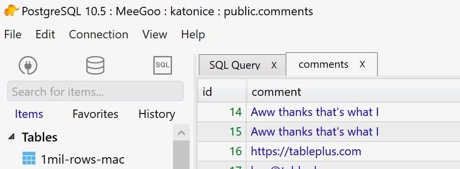 TablePlus | Modern, Native Tool for Database Management